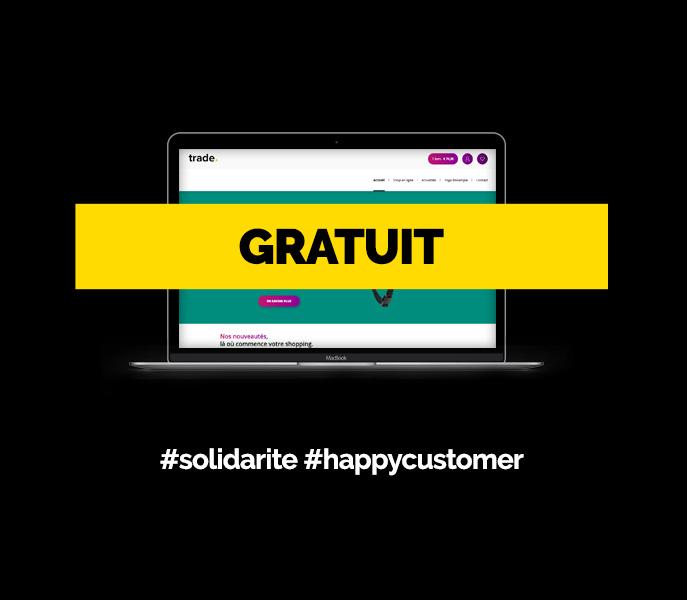 E-shop gratuit <br>#solidarite